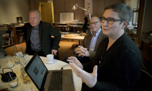 DISCUSSING: Stein Olav Henrichsen, Museum Director, Ole Jacob Bull, Manager of The Bergesen Foundation, and Hilde Bøe, Digital Collection Manager, discuss the new database. PHOTO: Bjørn Langsem