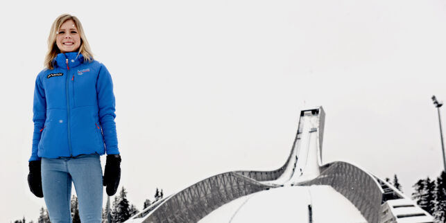 image: Endelig kan hun leve av skihoppingen