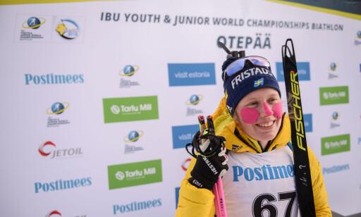 SOM SØSTEREN: Elvira Öberg har tatt tre VM-gull i junior-VM så langt og inspireres av storesøster. Foto: Bildbyrån