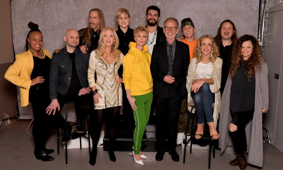 NYTT KONSEPT: Bertine Zetlitz og Ivar Dyrhaug (i midten) utgjør ekspertpanelet i «Århundrets stemme», som startet på TV 2 i kveld. Foto: Lars Eivind Bones / Dagbladet