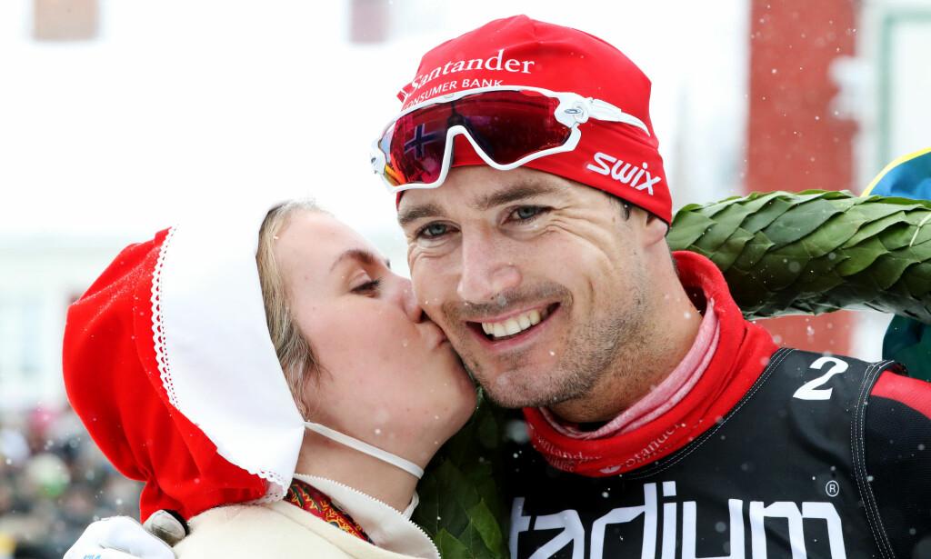 TIL TOPPS: Andreas Nygaard vant nitti kilometer lange Vasaloppet. Foto: Daniel Eriksson / Bildbyrån