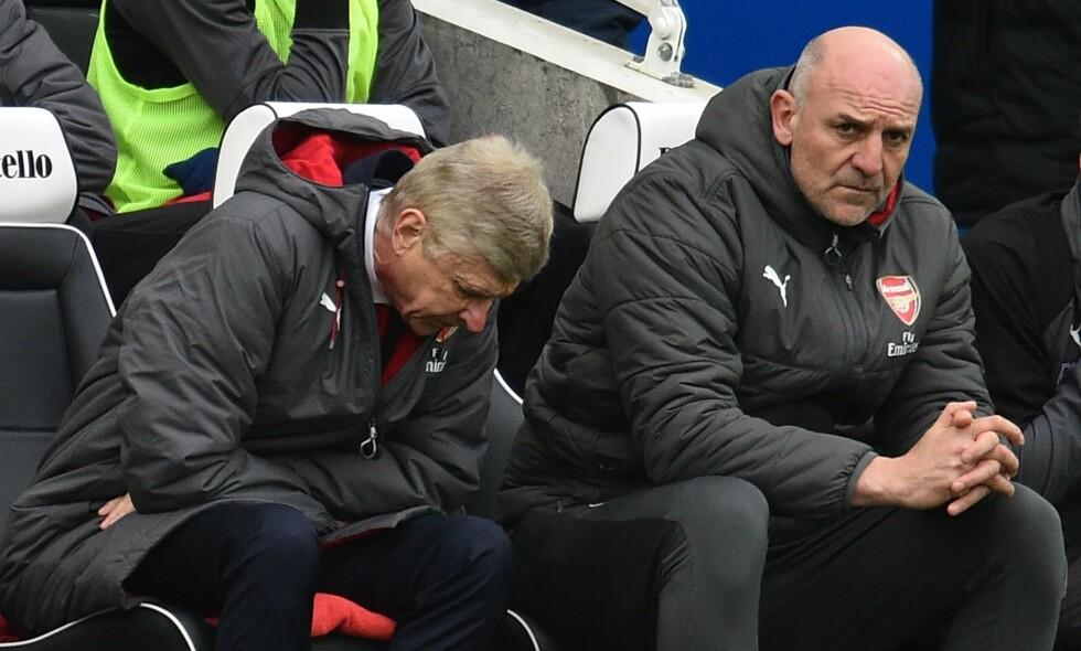 SLITER: Arsene Wenger og co. har tapt fire kamper på rad i alle turneringer etter 2-1-nederlaget mot Brighton. Foto: Glyn Kirk / AFP Photo / NTB Scanpix