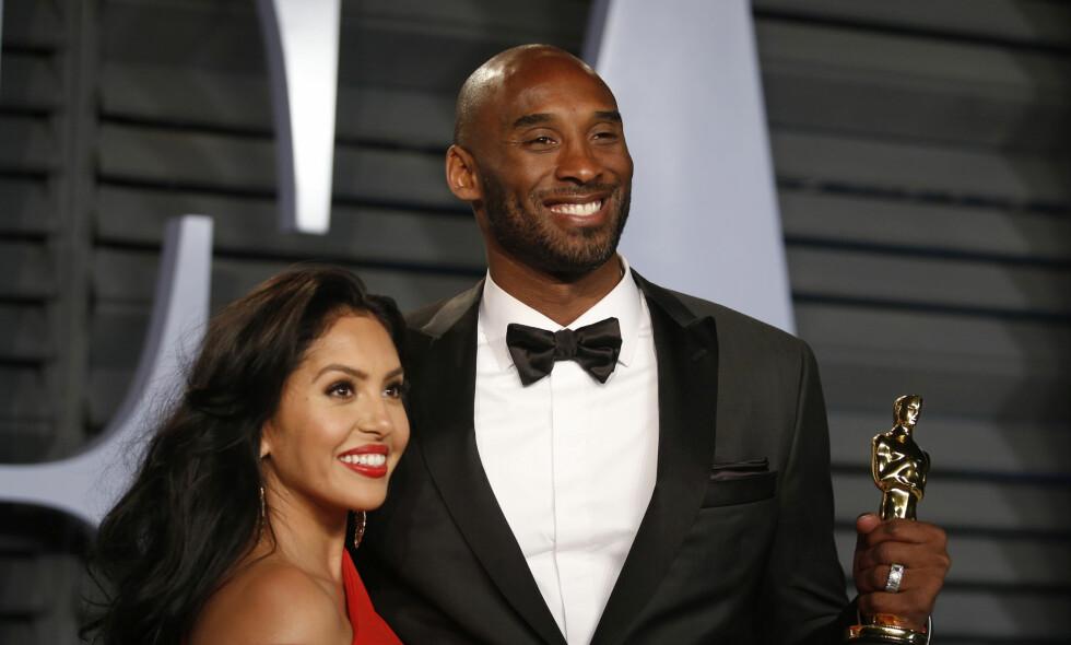 VANT: Kobe Bryant fikk Oscar for beste animerte kortfilm. Her med kona Vanessa. Foto: REUTERS/Danny Moloshok