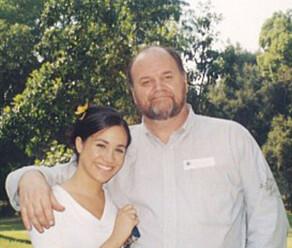 PAPPA: Meghan og hennes far Thomas Markle. Foto: NTB Scanpix