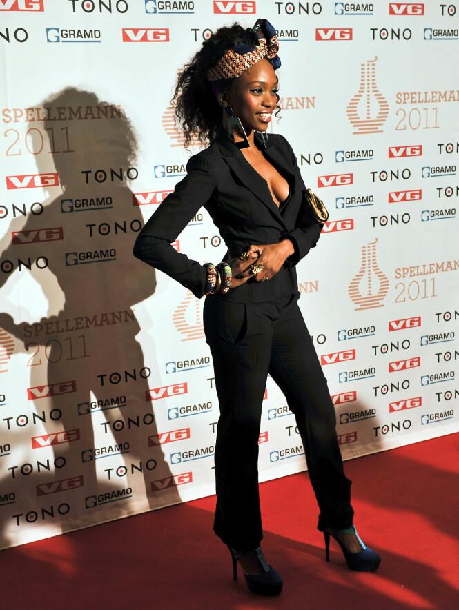 CLASSY: Stella Mwangi ankommer Spellemannprisen i 2011. FOTO: NTB Scanpix
