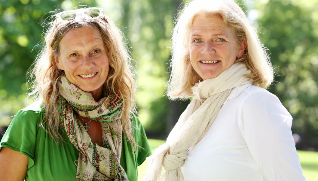 <strong>IKKE EGOISTER:</strong> Besteforeldre som tilbringer deler av året i Syden er langt fra egoistiske, mener Heidi Köhn og Christin Engelstad. Foto: Britt Krogsvold Andersen