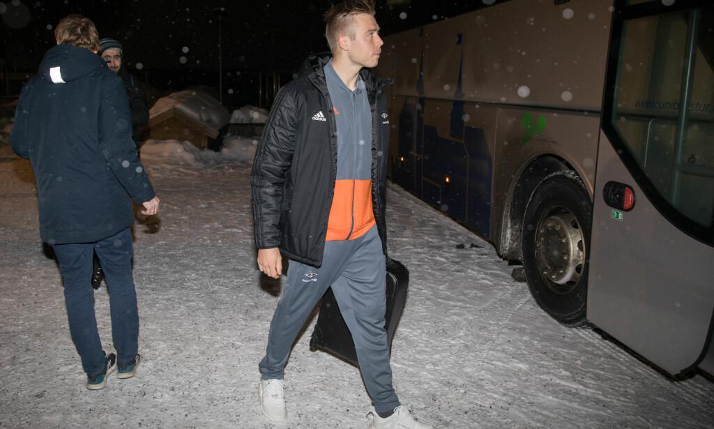 TILBAKE: Alexander Søderlund er tilbake i Norge og Rosenborg. Supporterne i gamleklubben Haugesund tror Søderlund kan score mange mål i år. Foto: Fredrik Hagen / NTB scanpix