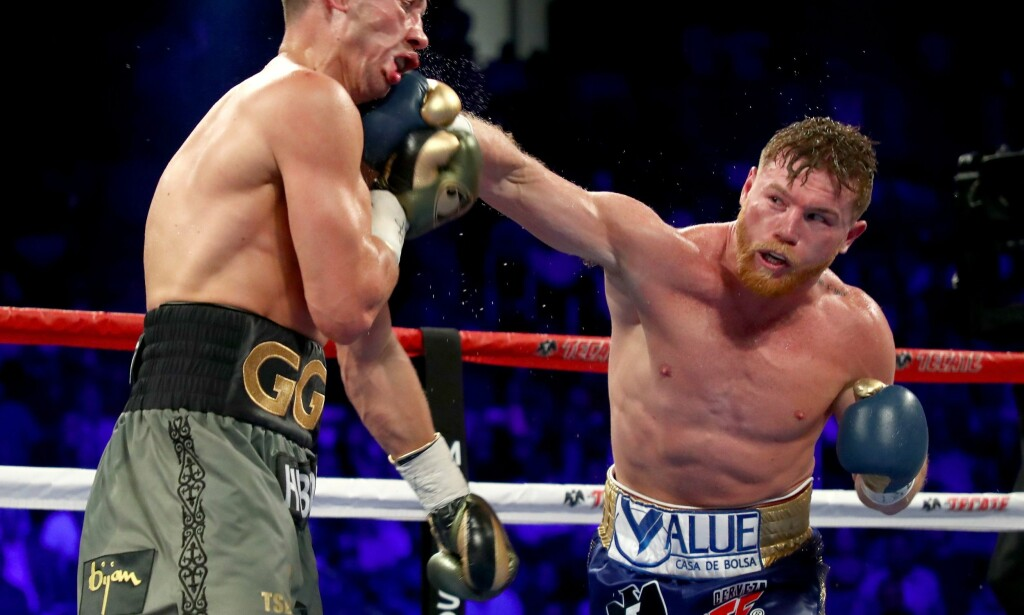 TESTET POSITIVT: Saul Alvarez testet positivt etter å ha spist forurenset kjøtt. Foto: Al Bello/Getty Images/AFP / AFP PHOTO / GETTY IMAGES NORTH AMERICA / AL BELLO