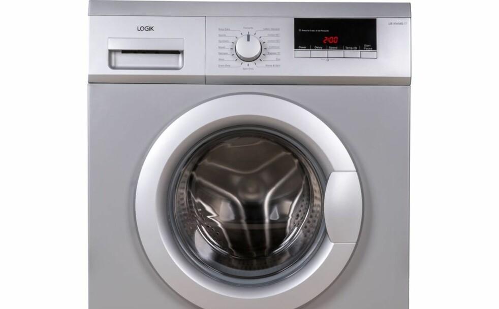 <strong>BUNNPLASSERING:</strong> Logik L814WMS17 får med sine 25 prosent bunnplassering blant alle vaskemaskinene Which? har testet i løpet av åtte år. Foto: Currys