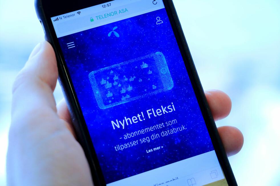 <strong>TELENOR FLEKSI:</strong> Telenor har lagt om abonnementene sine, og nå må du over på Telenor Fleksi om du vil bruke mer enn 5 GB i måneden. Foto: Ole Petter Baugerød Stokke