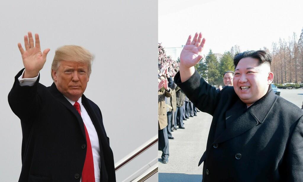 SKAL MØTES: Situasjonen på Koreahalvøya har vært svært spent. Nå skal Donald Trump og Kim Jong-un møtes, ifølge sørkoreanske myndigheter. Foto: NTB scanpix
