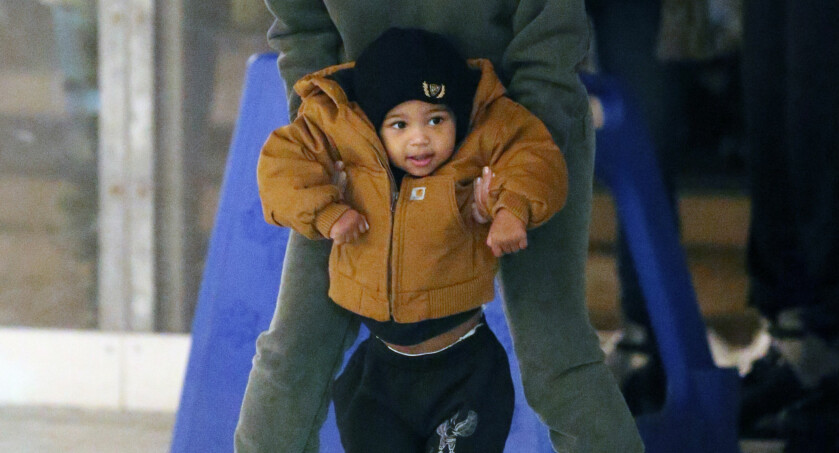 LITEN: Saint er Kim og Kanyes andre barn. Foto: NTB Scanpix