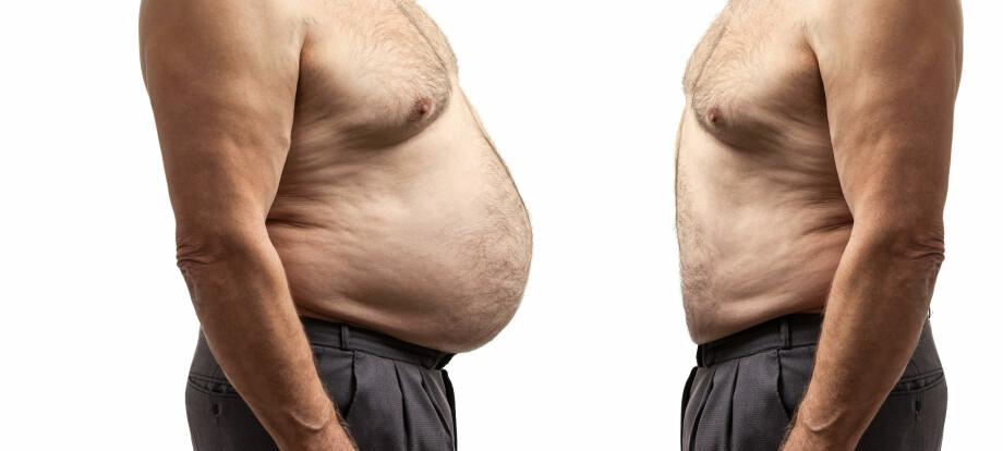 <strong>OPPOVER:</strong> Jo eldre du blir, jo større er sjansen for at kiloene kommer snikende. Foto: Scanpix.