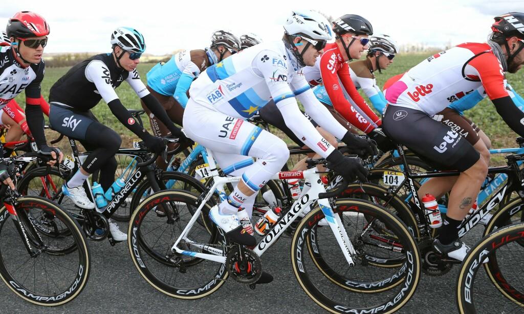 SYK: Alexander Kristoff endte sist på 3. etappe i Paris-Nice. FOTO: Tim de Waele.