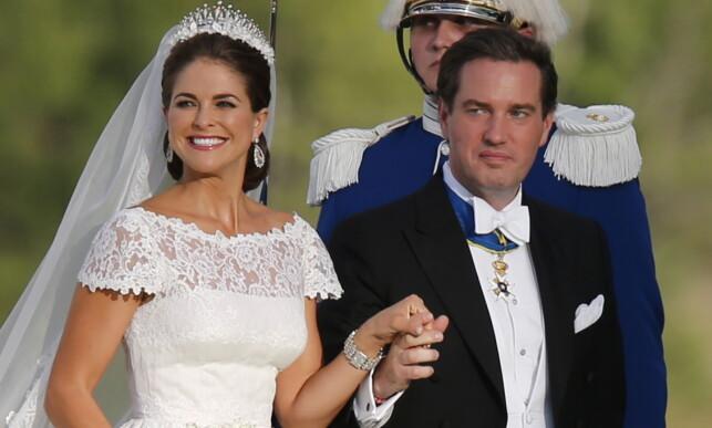 NYGIFT: Madeleine og Chris strålte på bryllupsdagen sin 8. juni 2013. Foto: NTB scanpix