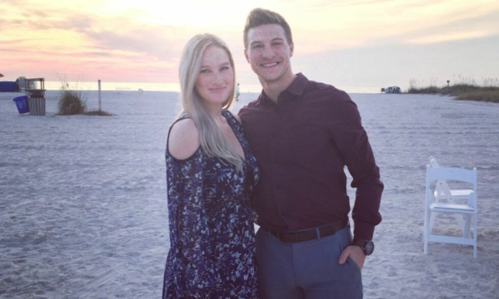 FRA LYKKE TIL SORG: Joshua Gatt og kona Melissa går gjennom sine verste dager. Hun er rammet av kreft. Foto: Privat