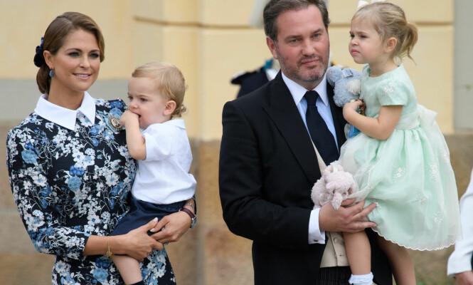 <strong>RETURNERER TIL SVERIGE:</strong> I anledning prinsesse Madeleines fødsel, har familien reist hjem til Sverige for å ta imot sitt nye familiemedlem. Foto: Tim Rooke / REX / Shutterstock