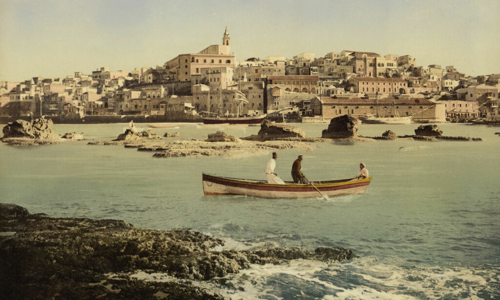 JAFFA, TEL AVIV: Dette bildet viser Jaffas gamleby fra sjøsida, og er tatt i 1950. I dag er Jaffa en del av Tel Aviv. Foto: Foto: AKG images / Scanpix