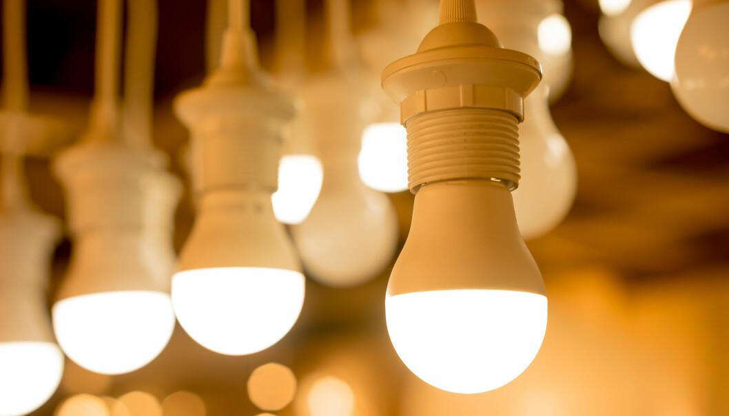 LED: Ifølge Daniel Milford Flathagen ved Enova, vil LED-pærer redusere strømbruken opp mot 90 prosent sammenlignet med glødepærer. Foto: Shutterstock