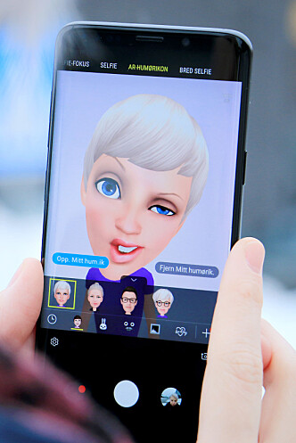 <strong>LITT TØYS MÅ DET VÆRE:</strong> Men AR Emoji er egentlig bare litt guffen. Og har vi ikke uansett Bitmoji til sånt? Foto: Ole Petter Baugerød Stokke