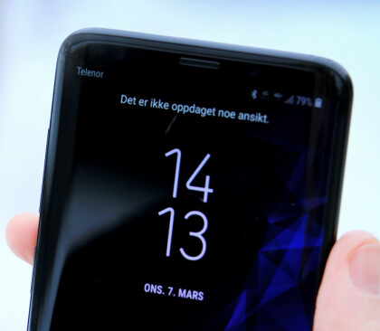 <strong>IKKE GOD NOK:</strong> Du kan låse opp Samsungs nye toppmodell med ansiktet, men det er ikke alltid det fungerer. Foto: Ole Petter Baugerød Stokke