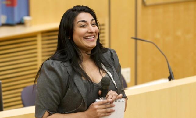 Dramatiker og aksjonist: Shabana Rehman Gaarder. Foto: Bendiksby, Terje