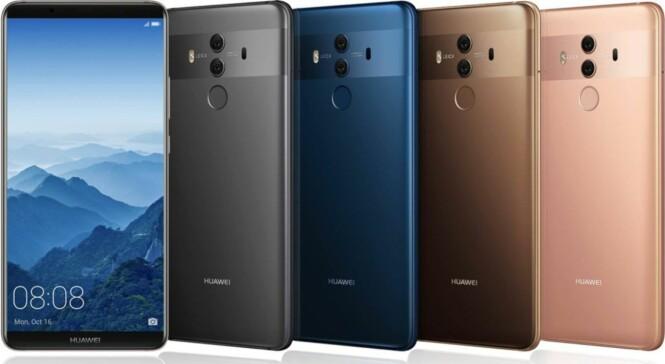 LEKKER: Huawei Mate 10 Pro frister med både lekkert design og usedvanlige gode egenskaper vi ønsker av en telefon. Foto: Huawei