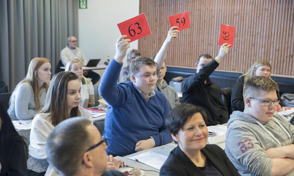 NEI-FLERTALL: Selv om AUF stemte for, sa Finnmark Ap nei til vilkårene for sammenslåing med Troms. Helga Pedersen stemte nei. Foto: Vidar Ruud / NTB scanpix