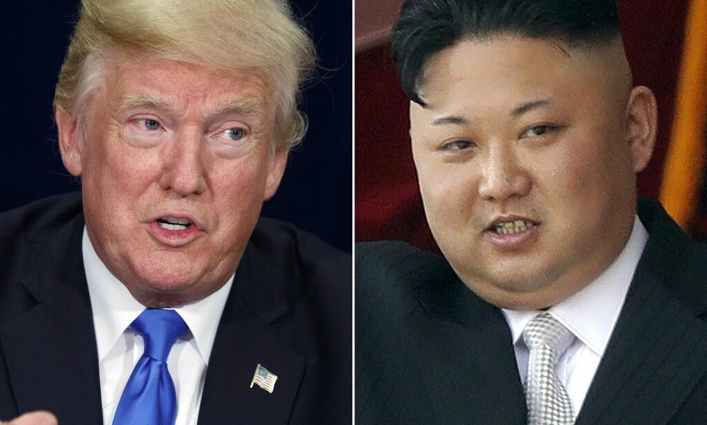 SKAL MØTES: Kim Jong-un har invitert Donald Trump til et møte. Det har Trump takket ja til og møtet skal skje innen mai, ifølge sørkoreanske myndigheter. Foto: NTB scanpix