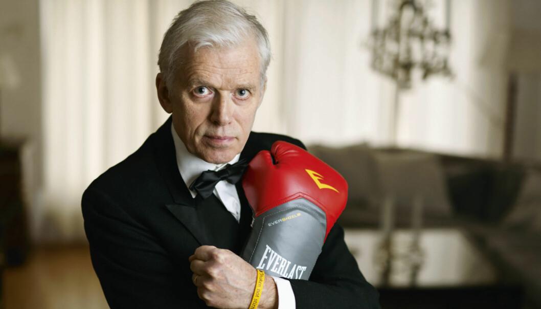"""LEVER MED PARKINSON SYKDOM: Jan Bjørneboe (63) fikk Parkinson sykdom for seks år siden. I dag lever han etter konseptet som han kaller """"SLEMT"""", som hjelper han å takle den ukurerbare sykdommen. Foto: Bjørneboe forlag"""