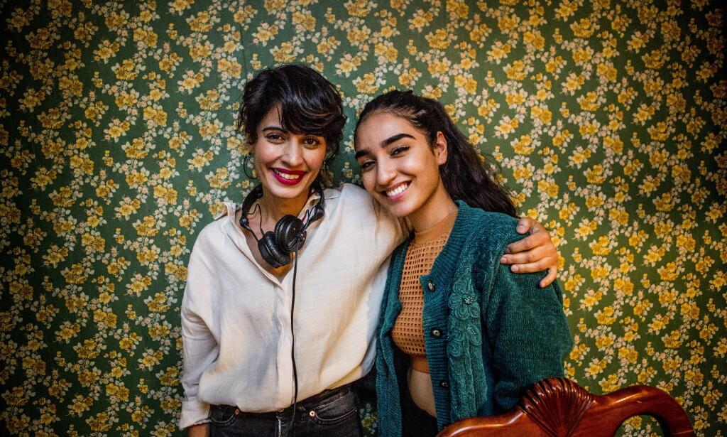 GODT TEAM: Iram Haq med skuespiller Maria Estanegzai (17). I tillegg er «Life of Pi»-stjerna Adil Hussain med filmen «Hva vil folk si?». Foto: Christian Roth Christensen / Dagbladet