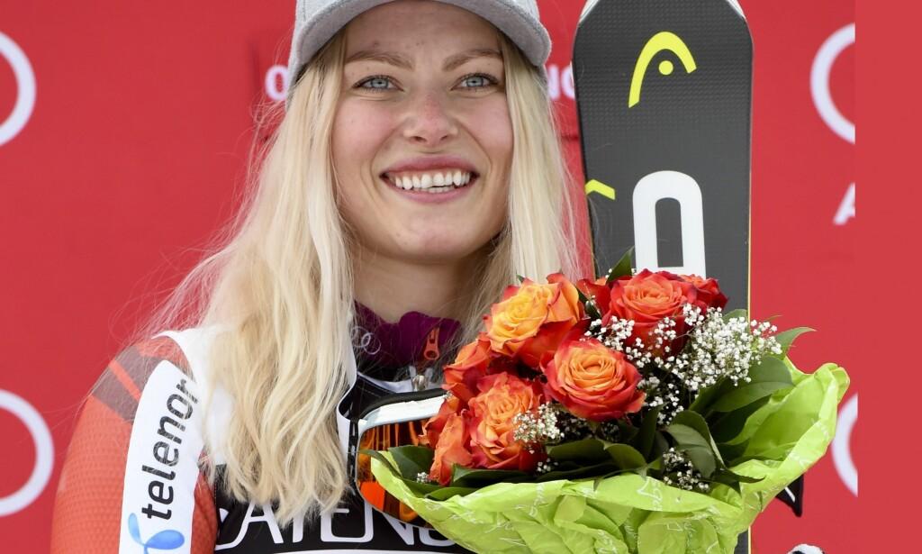 VANT: Ragnhild Mowinckel vant sin første verdenscupseier fredag. Foto: AP Photo/Marco Tacca