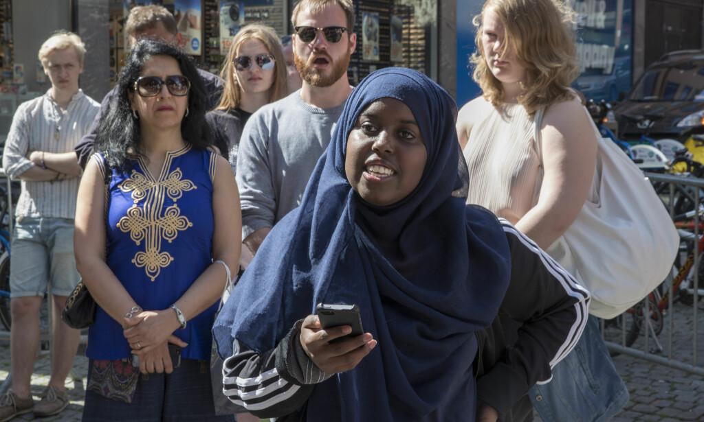 ET LIKESTILLINGSSPØRSMÅL: Hatkampanjen mot Sumaya Jirde Ali tyder på at Norge ikke er kommet så langt i kampen for likestilling som vi liker å forestille oss, mener kommentatoren. Foto: NTB SCANPIX