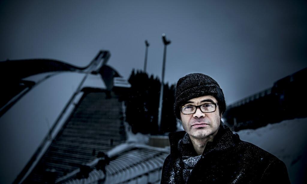 ÅSTEDET: I «Sporvekslingsmordet» har Hans Olav Lahlum lagt drapet til skiløypene rundt Holmenkollbakken. FOTO: Christian Roth Christensen.