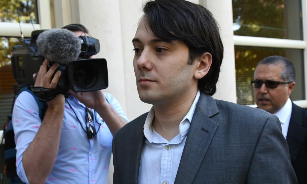 FENGSEL: Martin Shkreli er dømt til sju års fengsel for bedrageri. Foto: AFP PHOTO / TIMOTHY A. CLARY / NTB scanpix