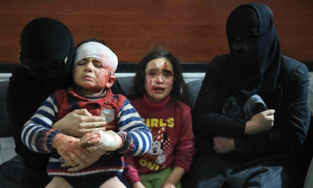 image: Slik beskriver FN-tjenestemann forholdene i Øst-Ghouta: «Elendighet. Ødeleggelse. Katastrofe. Død. Sult.»