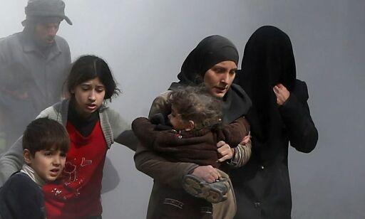 image: Dette skjer i Øst-Ghouta mens vi mesker oss i vinterværet