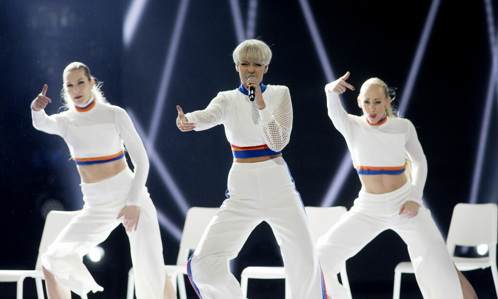 DANSEDRONNING: Nicoline med imponerende dans under hele låta. Foto: Anita Arntzen / Dagbladet