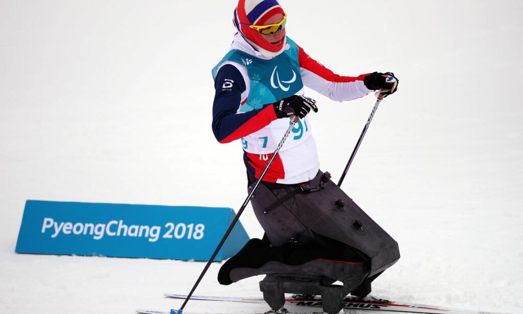 UHELL: Det ble ingen drømmestart på Birgit Skarsteins mesterskap. Hun ble tvunget til å bryte på åpningsdistansen. Foto: NTB scanpix
