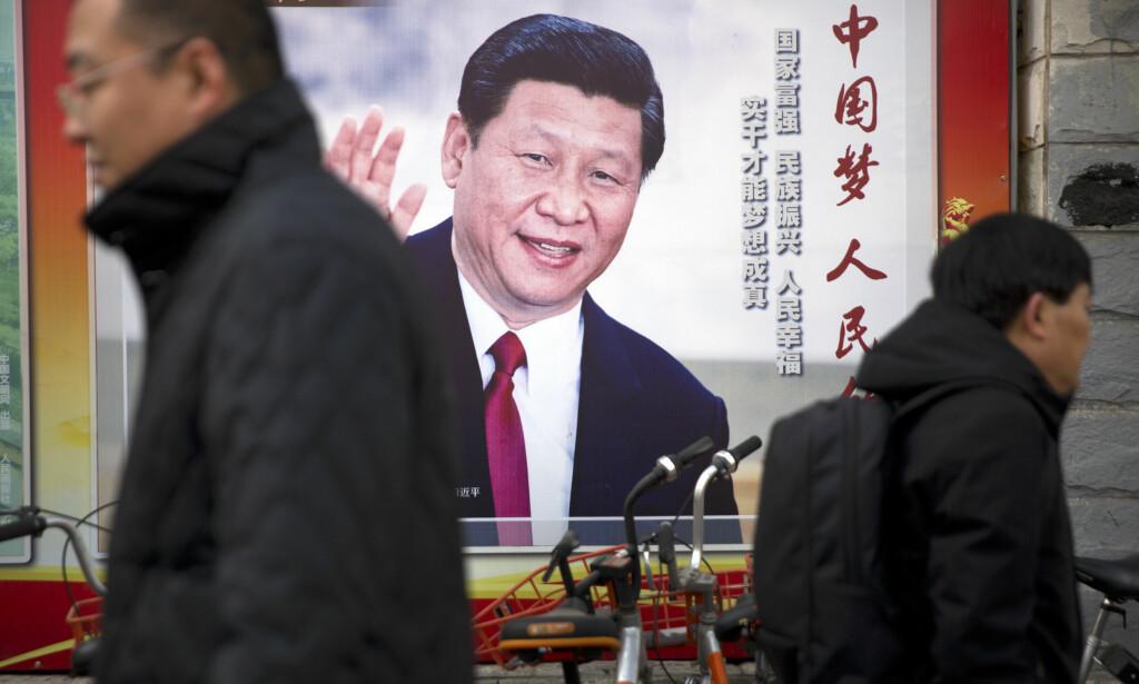 Kinas lovgivende forsamling, Folkekongressen, stemte i dag over en lovendring som i praksis åpner for at Xi Jinping kan bli sittende som president på livstid. Foto: AP / NTB scanpix