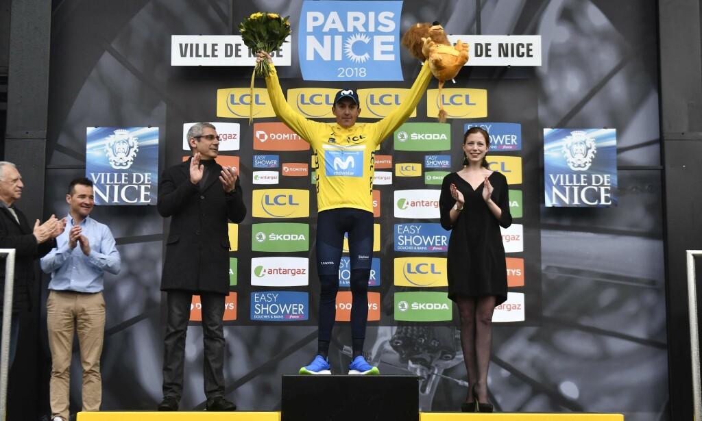 SEIRET: Marc Soler var offensiv på den siste etappen av Paris-Nice og det gav avkastning. FOTO: AFP PHOTO / JEFF PACHOUD