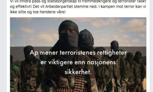 image: Listhaug brukte det omstridte terrorbildet UTEN tillatelse. Nå får hun regning i posten