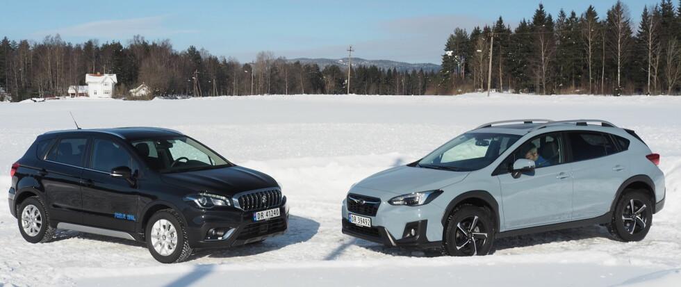 SNUTE MOT SNUTE: En forbedret Suzuki SX4 og en splitter ny Subaru XV er vurdert mot hverandre. Foto: Rune Nesheim