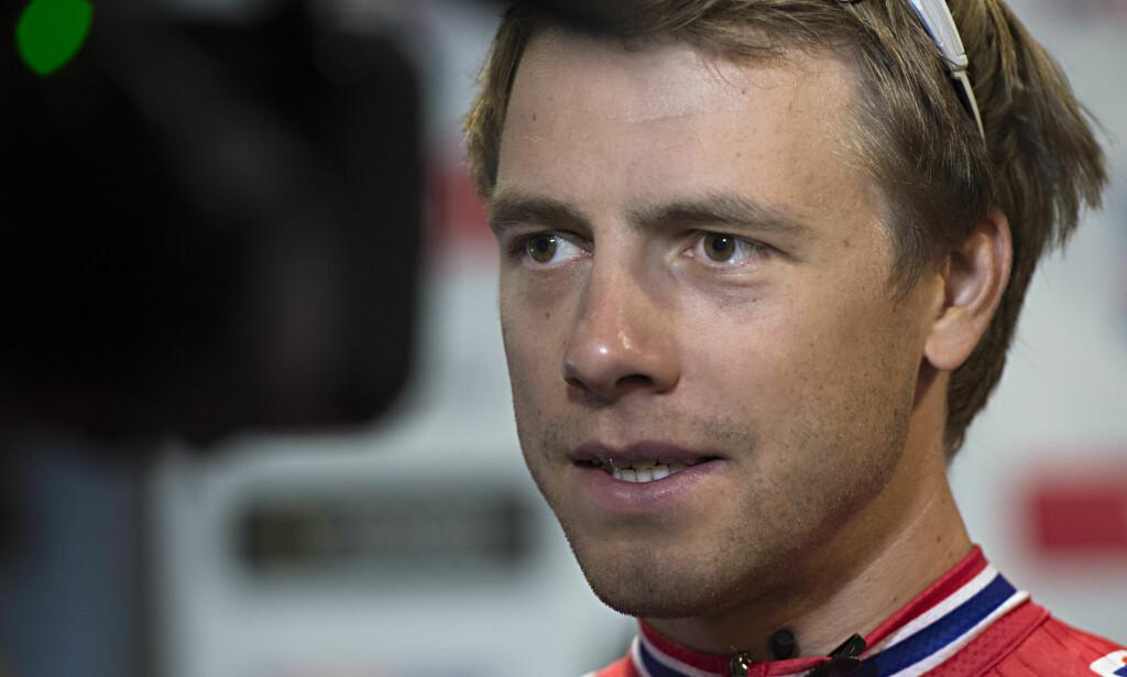 Edvald Boasson Hagen ble hindret av et velt i Tirreno-Adriatico. Her fra sykkel-VM i Bergen i fjor. Foto: Marit Hommedal / NTB scanpix