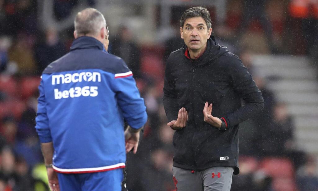 SPARKET: Mauricio Pellegrino er ferdig som Southampton-manager. Det bekrefter klubben på sin egen hjemmeside. Foto: Adam Davy/AP