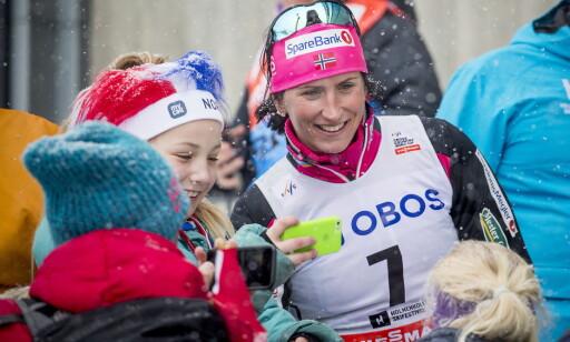 MAMMA-PRAT: Marit Bjørgen har satt pris på samtalene med Kikkan Randall om det å være mor. Foto: Bjørn Langsem / Dagbladet