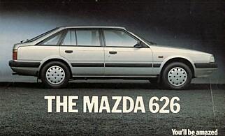 GULLBIL: «Drømmen» til 250.000 kroner anno 1986. Foto: Mazda