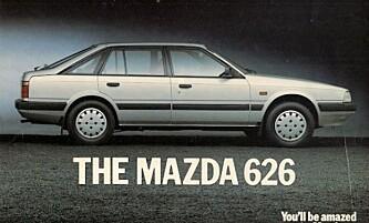 <strong>GULLBIL:</strong> «Drømmen» til 250.000 kroner anno 1986. Foto: Mazda