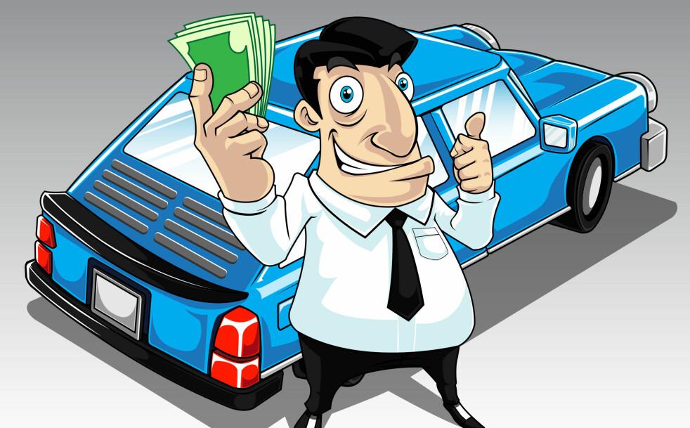 <strong>MER FOR PENGA:</strong> I 1986 kostet en helt vanlig bil kostet 249.000 kroner. Det tilsvarer faktisk 552.000 kroner i samme verdi i dag. Illustrasjon: NTB/SCANPIX