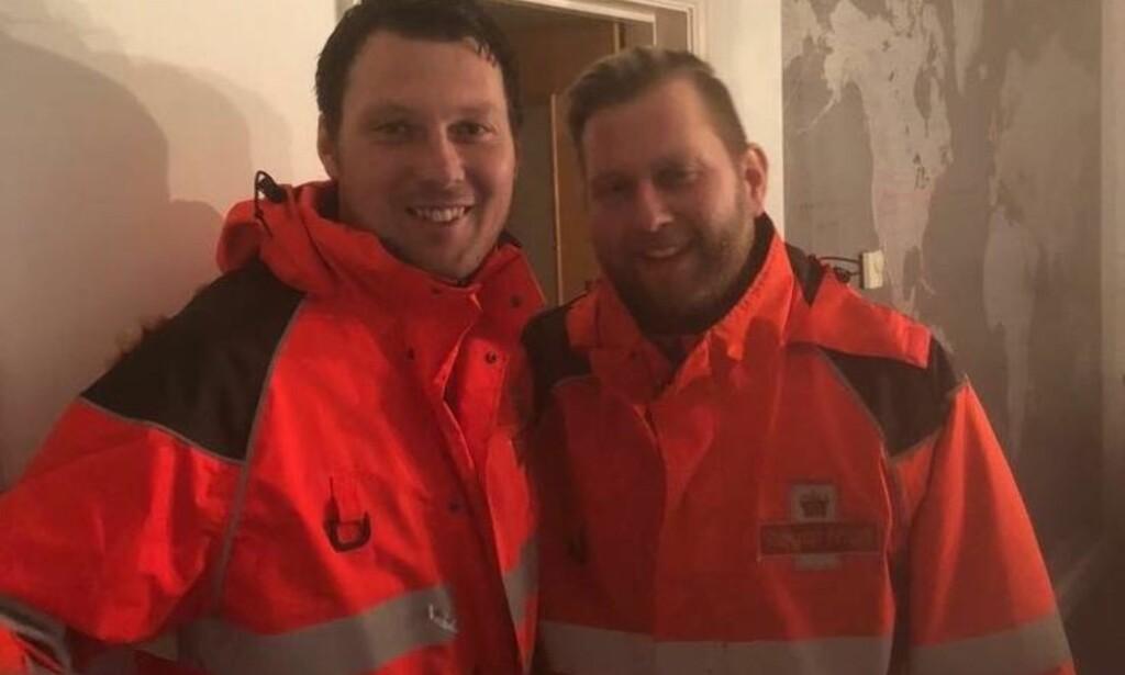 VANLIG JOBB: Thomas English jobber nå som postmann. Foto: Privat